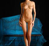 An impressive erotic display of petite, wet body.
