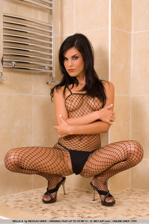 Nella is in the bath room with some sexy - XXX Dessert - Picture 19