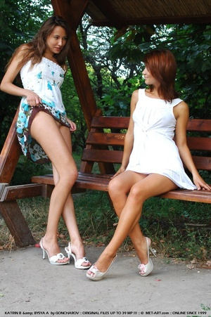 Tags: Big lips, duo, high heels, outdoor - XXX Dessert - Picture 13