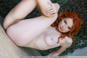 Tags: Outdoors, pale skin, redhead. - XXX Dessert - Picture 3