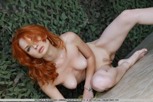 Tags: Outdoors, pale skin, redhead. - XXX Dessert - Picture 5