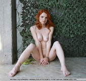 Tags: Outdoors, pale skin, redhead.