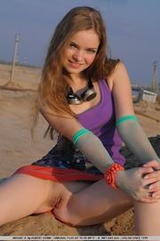 beach girl with tiny