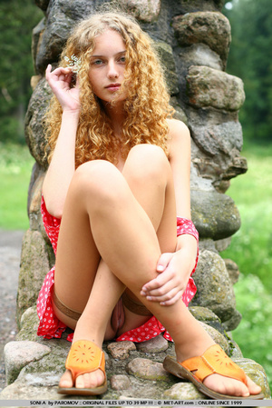 Striking red haired model in a very hipp - XXX Dessert - Picture 15