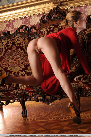 Tags: Big lips, dress, long legs, red, r - XXX Dessert - Picture 8