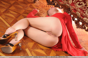 Tags: Big lips, dress, long legs, red, r - XXX Dessert - Picture 12