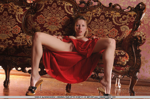Tags: Big lips, dress, long legs, red, r - XXX Dessert - Picture 16