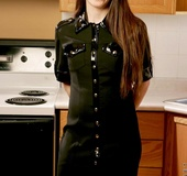 Tempting teenie petra never gets shy posing topless in kitchen