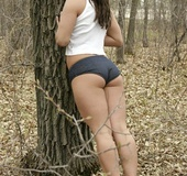 Hottie with a really cut defined tone ass and body plays outdoors