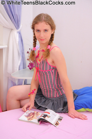 Teen in braids tries to conquer a huge e - XXX Dessert - Picture 3