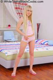 blonde teen rides top