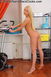 blonde teen gets her