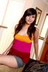 glamorous brunette teen gives