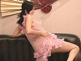 teen wearing lingerie stripping