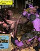 Hot 3d fuck scene of tentacle monster and captured busty elf beauty.