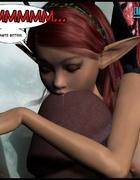 Cute little 3d elf pixie jack off huge hard pecker.