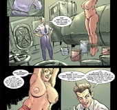 Crazy toon doctor takes tight red pantie off from his naked enslaved blonde