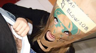 nasty blonde paper box