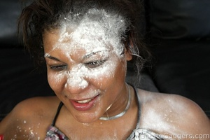 Kya is a bubbly black whore gagging on w - XXX Dessert - Picture 10