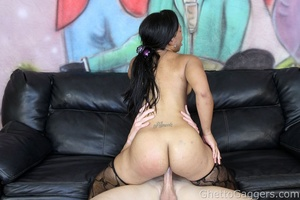 He drilled her big ghetto booty and her  - XXX Dessert - Picture 10