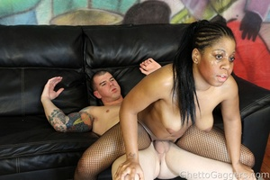 This ebony fuck doll got blasted in the  - XXX Dessert - Picture 11
