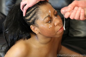 This ebony fuck doll got blasted in the  - XXX Dessert - Picture 14