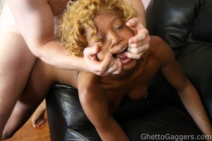 White loads all over her cute ebony face - XXX Dessert - Picture 14
