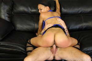 Ghetto hoe Lacy Green gets the fishhooks - XXX Dessert - Picture 13