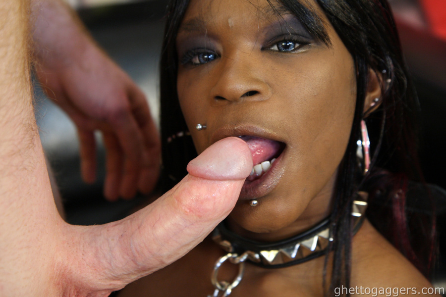 Ebony Loves White Cock Anal