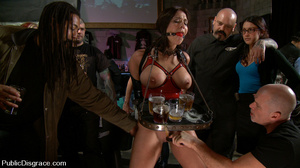 Roped busty slave girl gets all her hole - XXX Dessert - Picture 2