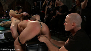 Roped busty slave girl gets all her hole - XXX Dessert - Picture 3