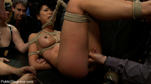 Tied up and hanged asian hottie gets gan - XXX Dessert - Picture 4