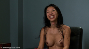 Tied up and hanged asian hottie gets gan - XXX Dessert - Picture 15