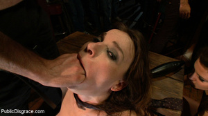 Enslaved brunette hottie gets all her ho - XXX Dessert - Picture 4