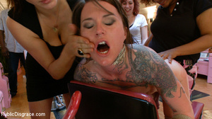 Tattoed brunette beauty gets her tight p - XXX Dessert - Picture 14