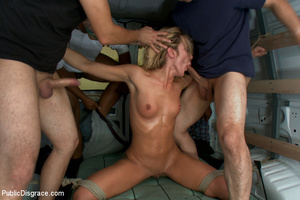 Perfect blonde ensalved chick received l - XXX Dessert - Picture 8