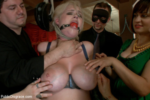 Busty blonde slave babe pounded by balck - XXX Dessert - Picture 4