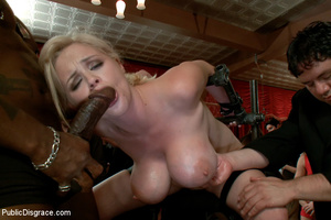 Busty blonde slave babe pounded by balck - XXX Dessert - Picture 10