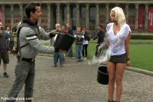 Enslaved blonde girl receives hard sexua - XXX Dessert - Picture 4