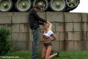 Enslaved blonde girl receives hard sexua - XXX Dessert - Picture 6