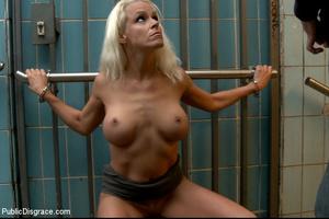 Enslaved blonde girl receives hard sexua - XXX Dessert - Picture 9
