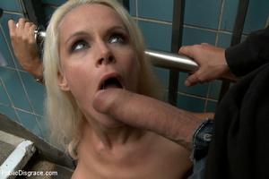 Enslaved blonde girl receives hard sexua - XXX Dessert - Picture 11