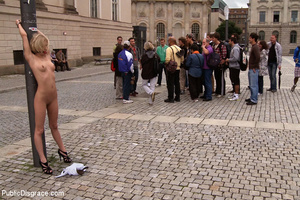 Tottaly nude in public slave blonde gets - XXX Dessert - Picture 1