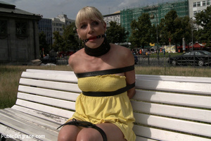 Captured blonde milf treated like a piec - XXX Dessert - Picture 1