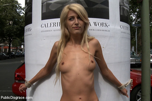 Super cute blonde slave beauty helplessl - XXX Dessert - Picture 1