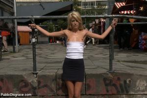 Super cute blonde slave beauty helplessl - XXX Dessert - Picture 13