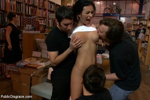 Gagballed and roped slave beauty gets he - XXX Dessert - Picture 2