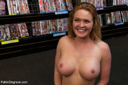 blonde big boobed roped