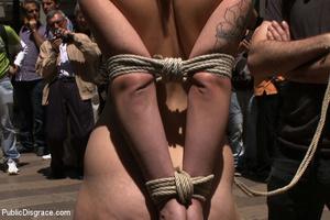 Teen brunette slave received her first i - XXX Dessert - Picture 3