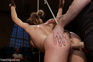 Blindfolded captured chick gets dp fucke - XXX Dessert - Picture 8